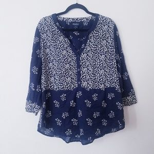 Lucky Brand | Floral Popover Blouse